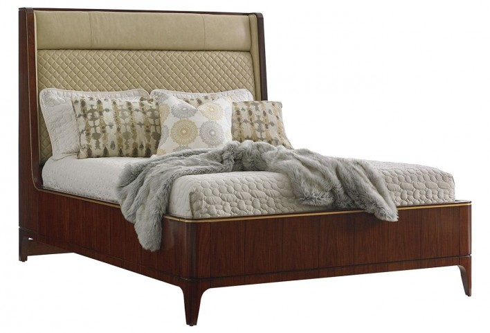 Take Five Empire Queen Upholstered Platform Bed