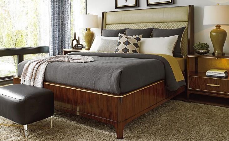 Take Five Empire Upholstered Platform Bedroom Set