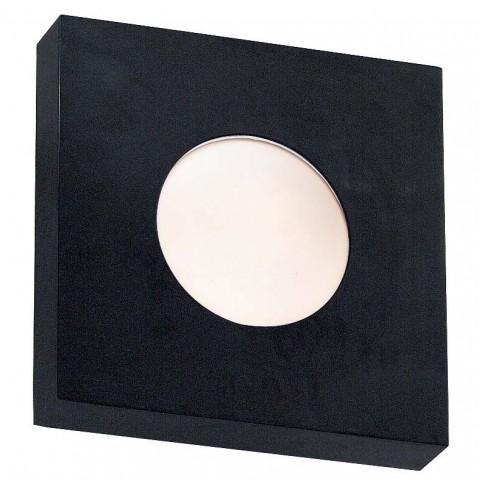 Burst Black Small Square Sconce/Flush