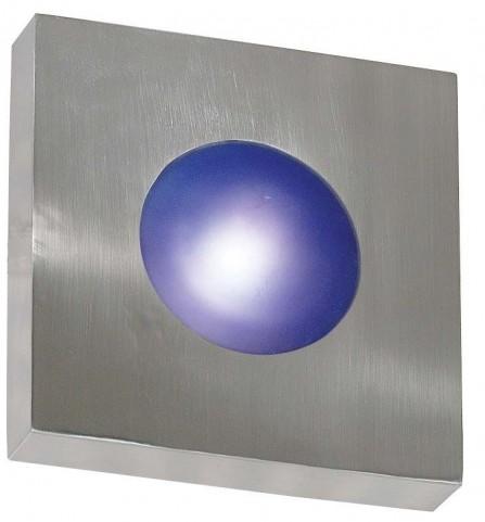 Burst Polished Aluminum Small Square Sconce/Flush