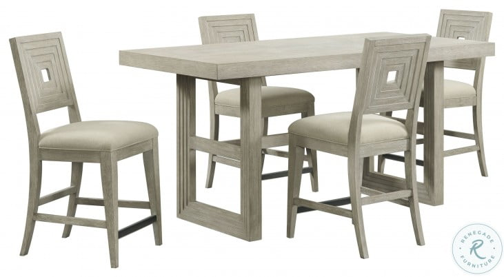 Cascade Dovetail Upholstered Wood Back Counter Stool Set Of 2