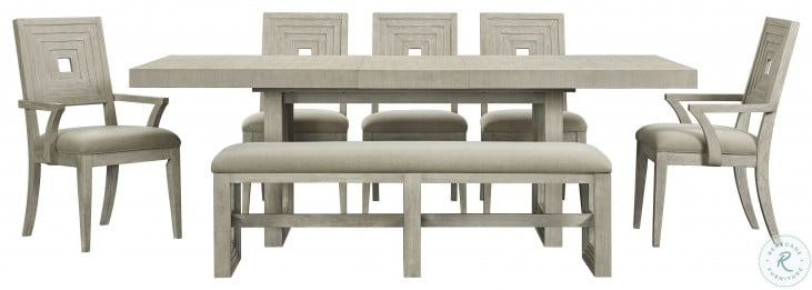 Cascade Dovetail Upholstered Dining Bench