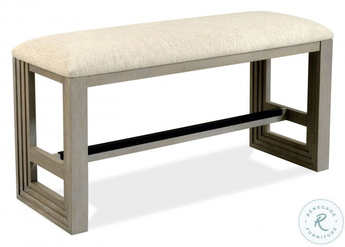 Cascade Dovetail Upholstered Counter Height Bench