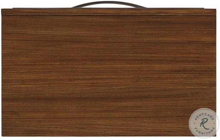 Kitano Rich Brown Hazelnut Ansley 3 Drawer Nightstand