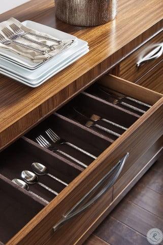 Kitano Rich Brown Hazelnut Mandara Round Dining Room Set