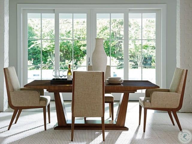 Kitano Rich Brown Hazelnut Marino Upholstered Side Chair Set of 2
