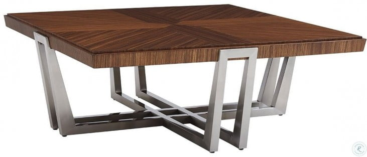 Kitano Rich Brown Hazelnut Gianni Square Cocktail Table