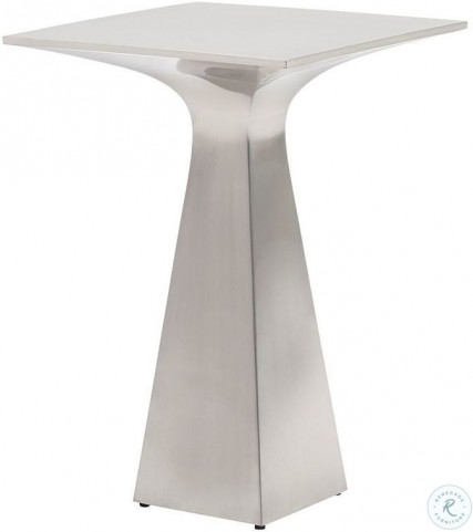 Kitano Brushed Stainless Steel Accent Table
