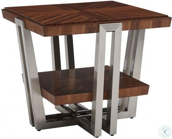 Kitano Rich Brown Hazelnut Gianni Square End Table