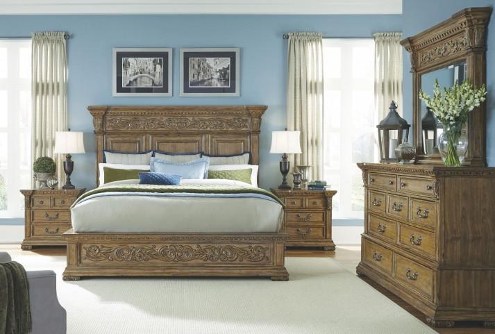 Stratton Medium Wood Stratton Platform Bedroom Set