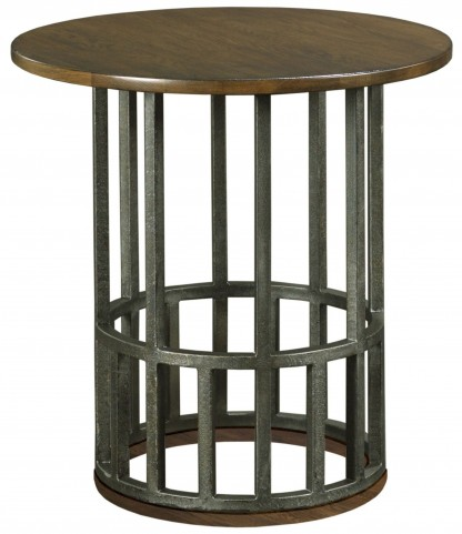 Bedford Park Wood Top Round Accent Table
