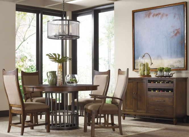 Bedford Park Extendable Round Dining Room Set