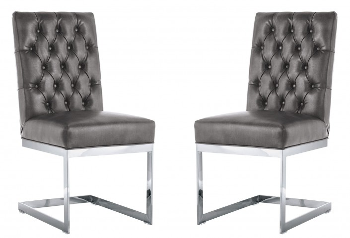 Cavalli Dining Chair In Grey Nobility Set of 2