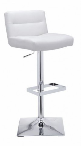 Stafford White Adjustable Barstool