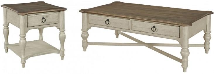 Weatherford Cornsilk Occasional Table Set