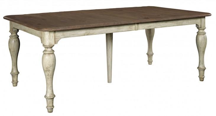 Weatherford Cornsilk Canterbury Extendable Rectangular Dining Table