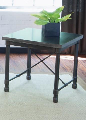 Clayton Dark Charcoal Rub Thru End Table