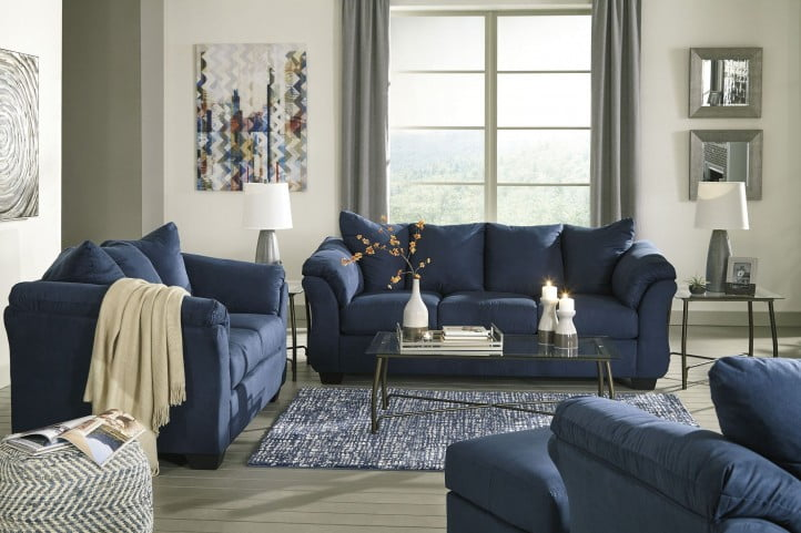 Darcy Blue Living Room Set From Ashley Coleman Furniture