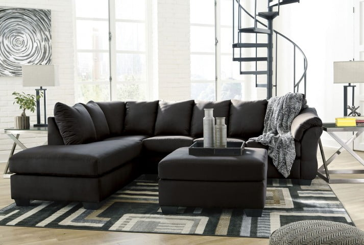Terrific Darcy Black Laf Sectional Cjindustries Chair Design For Home Cjindustriesco