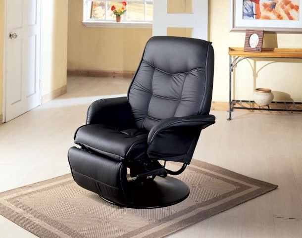 Black Reclining Chair 7501