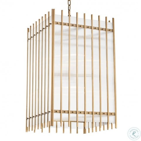 Wooster Aged Brass 8 Light Large Pendant