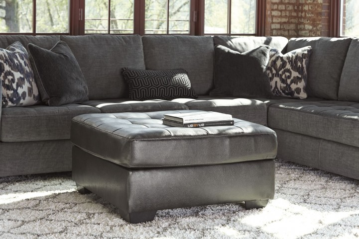 Owensbe Accent Charcoal Oversized Accent Ottoman