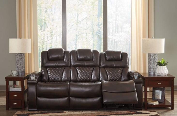 Warnerton Chocolate Power Reclining Sofa From Ashley Coleman Furniture