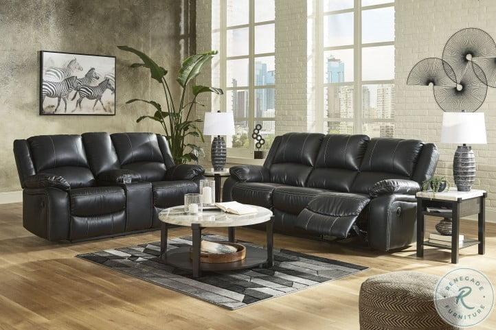 Calderwell Black Reclining Living Room Set