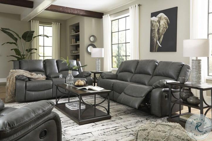 Calderwell Gray Reclining Living Room Set