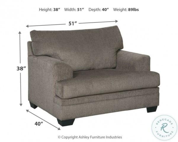 Dorsten Slate Chair and A Half