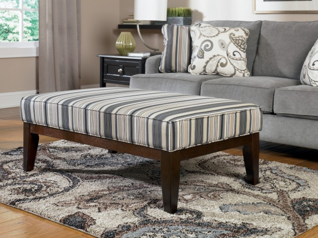 Yvette Steel High Leg Cocktail Ottoman