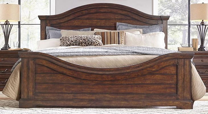 Stonebrook Tobacco Queen Panel Bed