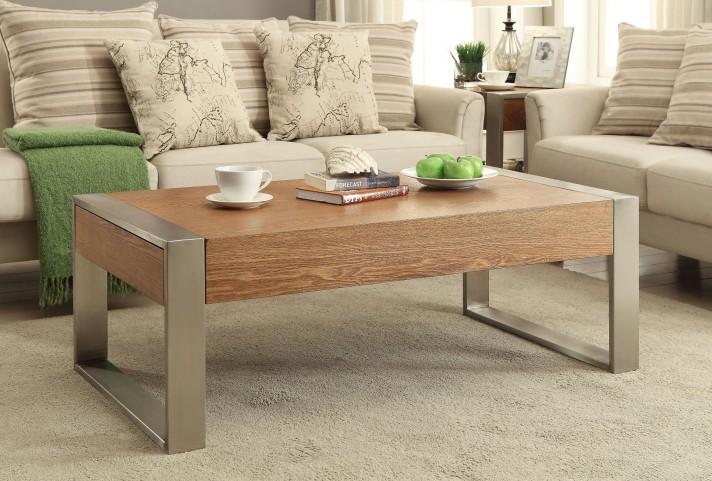 Lenox Medium Brown 2 Drawer Occasional Table Set