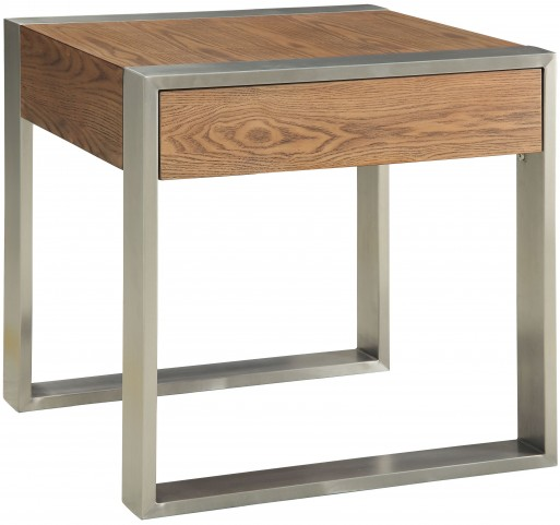 Lenox Medium Brown One Drawer End Table