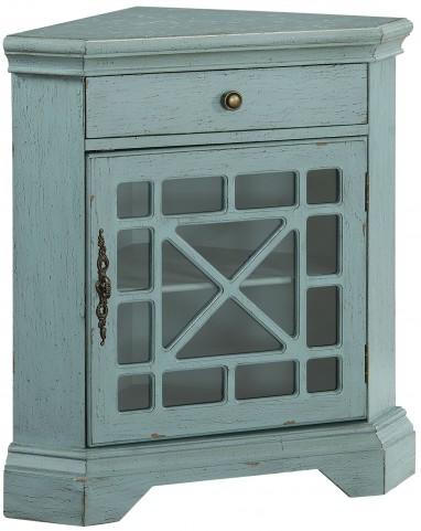 Bayberry Blue One Drawer Corner Cabinet