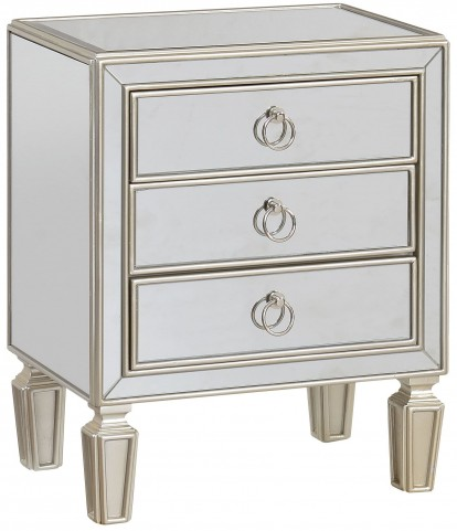 Dianna Champagne Gold 3 Drawer Chest