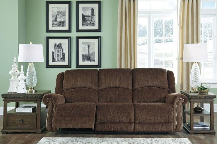 Super Goodlow Chocolate Power Reclining Sofa With Adjustable Headrest Short Links Chair Design For Home Short Linksinfo