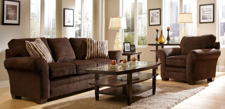 Zachary Affinity Microfiber Living Room Set