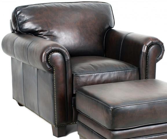Hillsboro Stetson Coffee Leather Chair