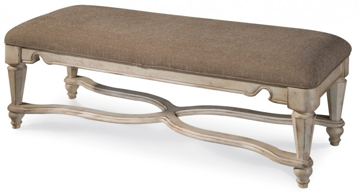 Belmar Antique Linen Bench