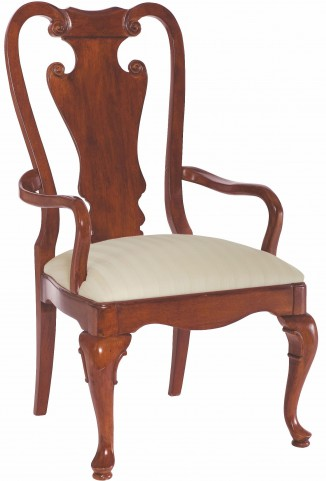 Cherry Grove Classic Antique Cherry Splat Back Arm Chair Set of 2