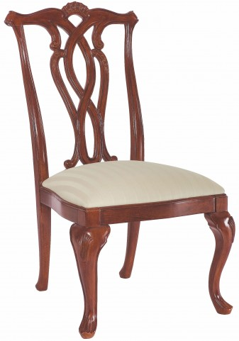 Cherry Grove Classic Antique Cherry Pierced Back Side Chair Set of 2