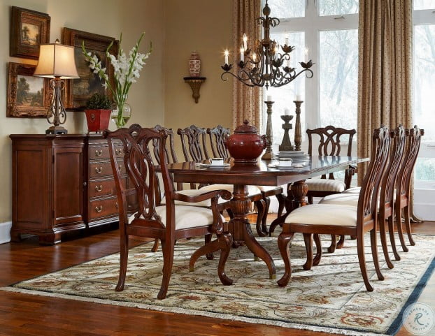 Cherry Grove Classic Antique Cherry Pedestal Extendable Dining Room Set