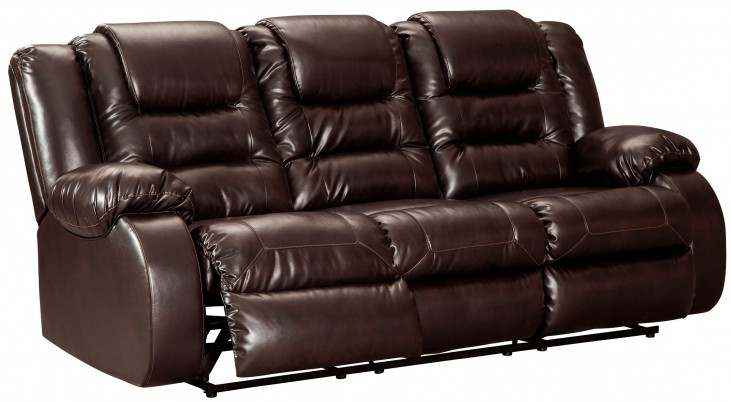 Vacherie Chocolate Reclining Sofa from Ashley | Coleman Furniture