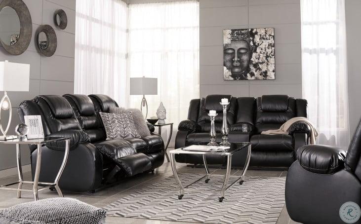 Vacherie Black Reclining Living Room Set