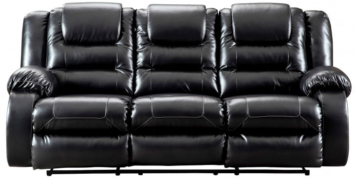bb1c5c7941 LOOKS GREAT WITH. Image of item Vacherie Black Reclining Sofa
