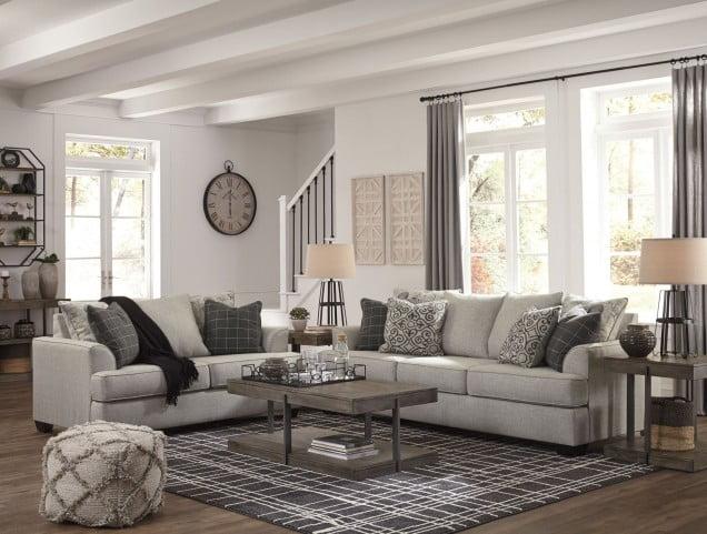 Velletri Pewter Living Room Set