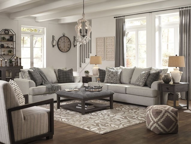 Velletri Pewter Living Room Set From Ashley Coleman