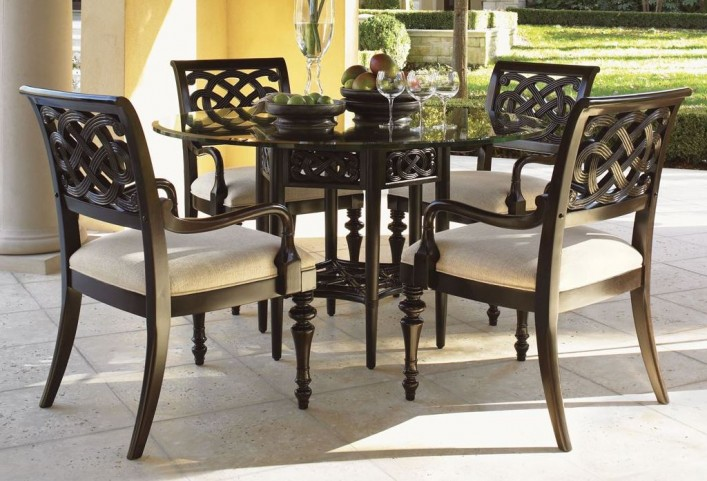 "Royal Kahala 54"" Sugar And Lace Round Dining Room Set"