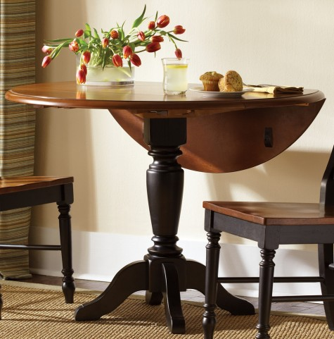 Low Country Black Drop Leaf Extendable Pedestal Table - Liberty Furniture